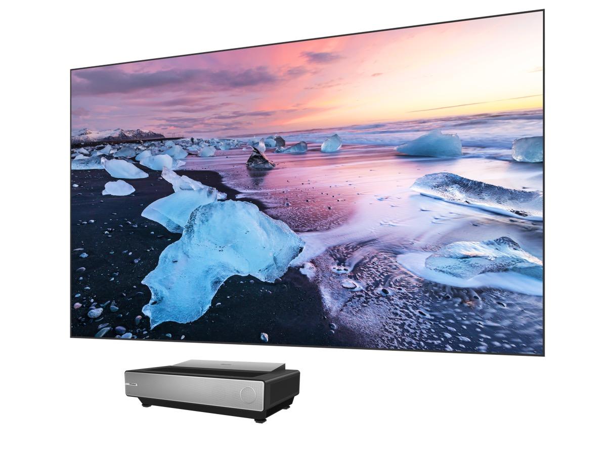 hisense laser tv CES 2020