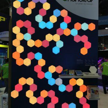 Al CES 2020 i nuovi pannelli LED smart Nanoleaf imparano e si adattano all'utente