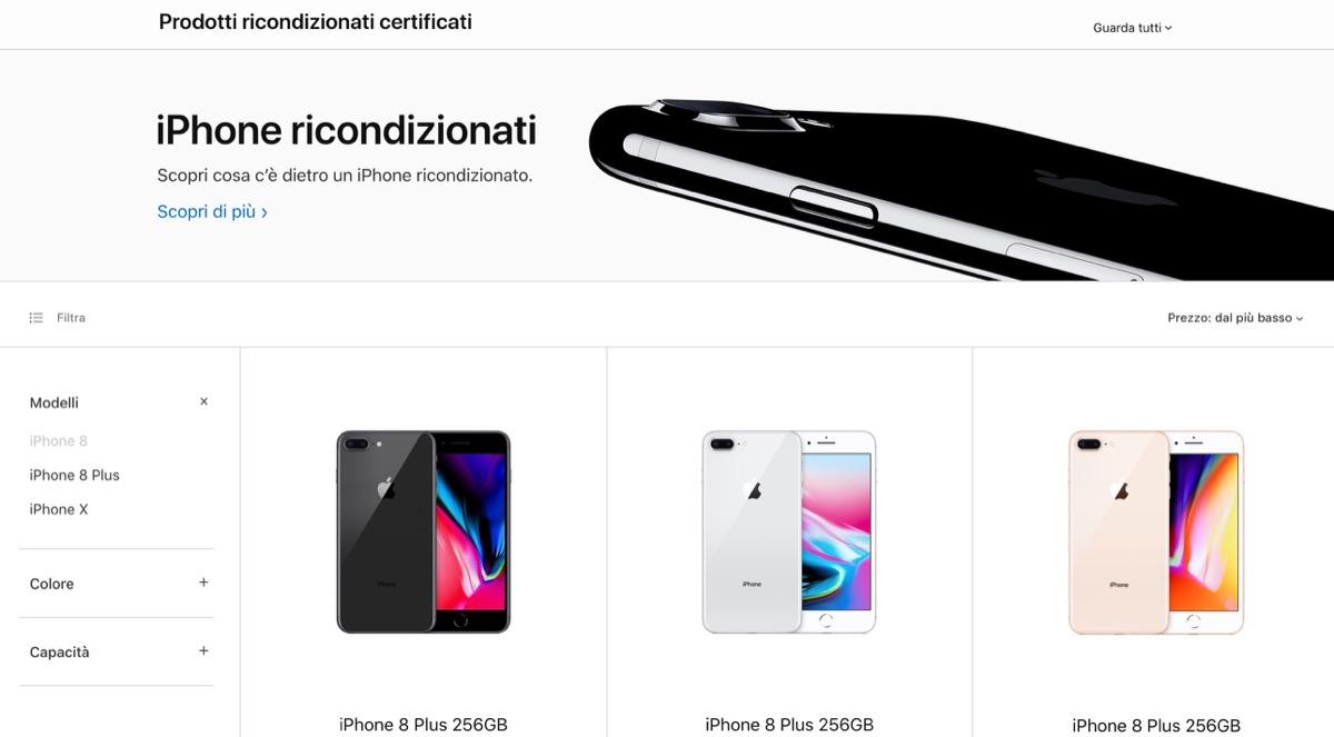 apple comincia a vendere iphone xs e max ricondizionati