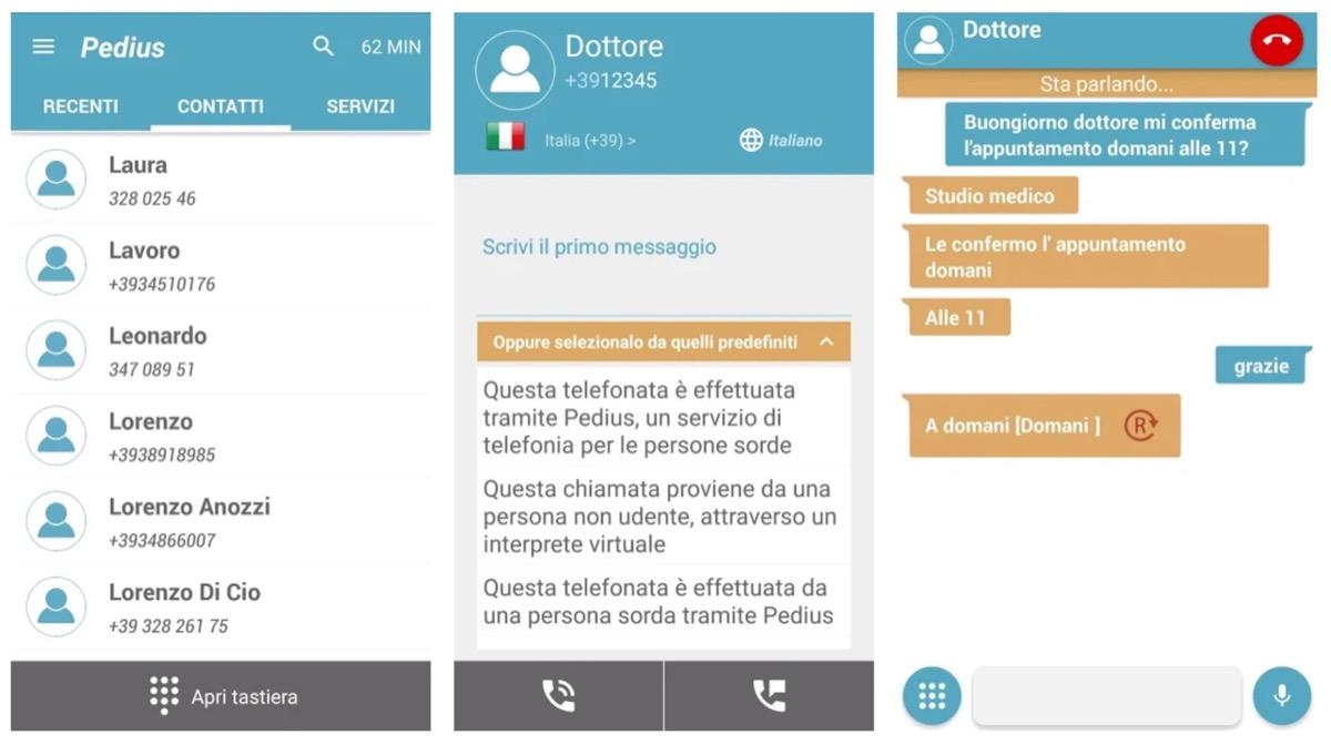 Pedius, l'app che fa telefonare i non udenti