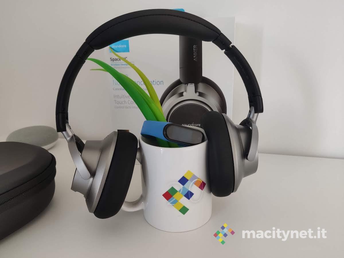 Recensione Soundcore Space NC, le cuffie wireless di Anker con cancellazione del rumore e controllo touch