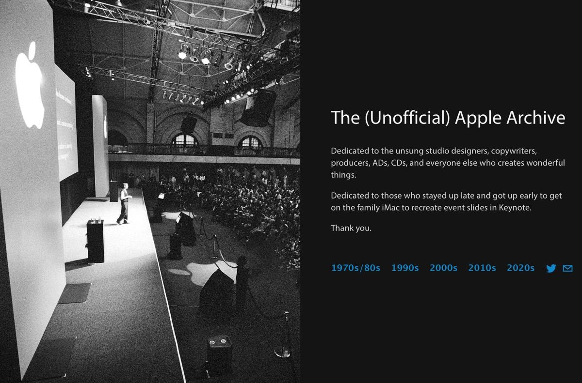 Unofficial Apple Archive raccoglie immagini, video e materiali sulla storia di Apple