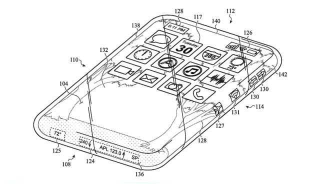 iPhone tutto vetro con touchscreen avvolgente - brevetto apple