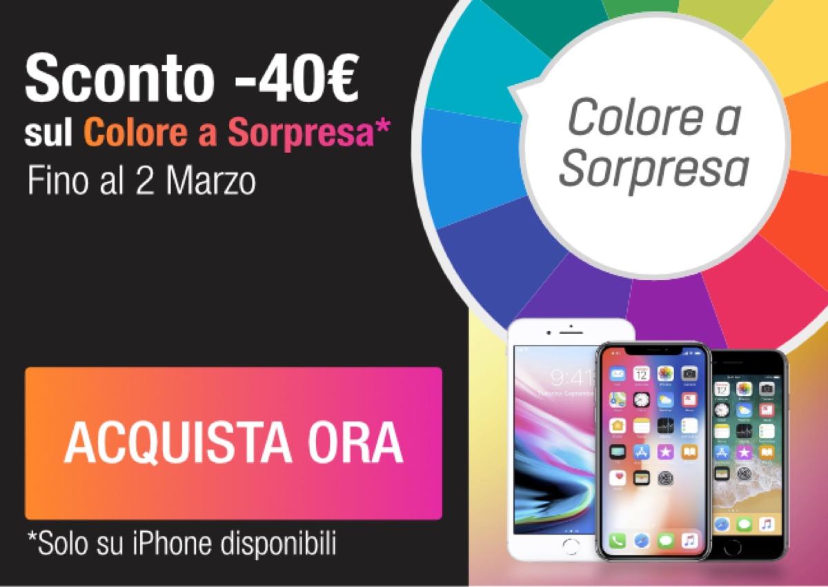 iPhone scontati: su TrenDevice risparmi 40€ scegliendo il Colore a Sorpresa