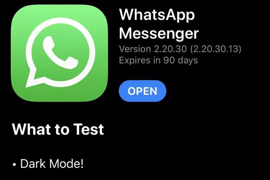 Arriva la modalità dark WhatsApp su iPhone nell'ultima beta