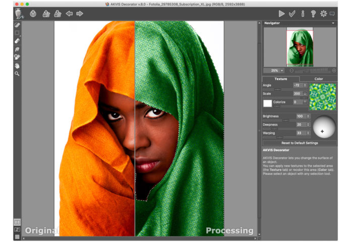 AKVIS Decorator 8.0, aggiornato il software Mac e PC che rendere facile aggiunge texture alle foto