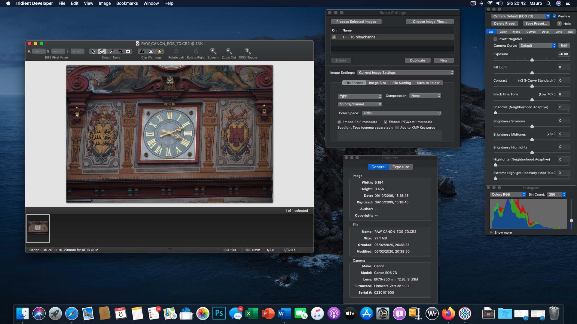 Iridient Developer 3.3.10, aggiornata l'utility Mac di conversione RAW