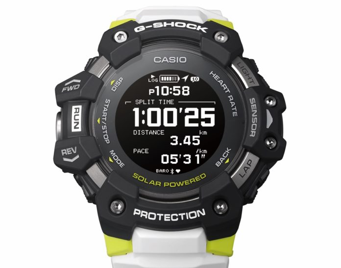 G-Shock GBD-H1000 è una miniera di sensori, inclusi battito cardiaco e GPS