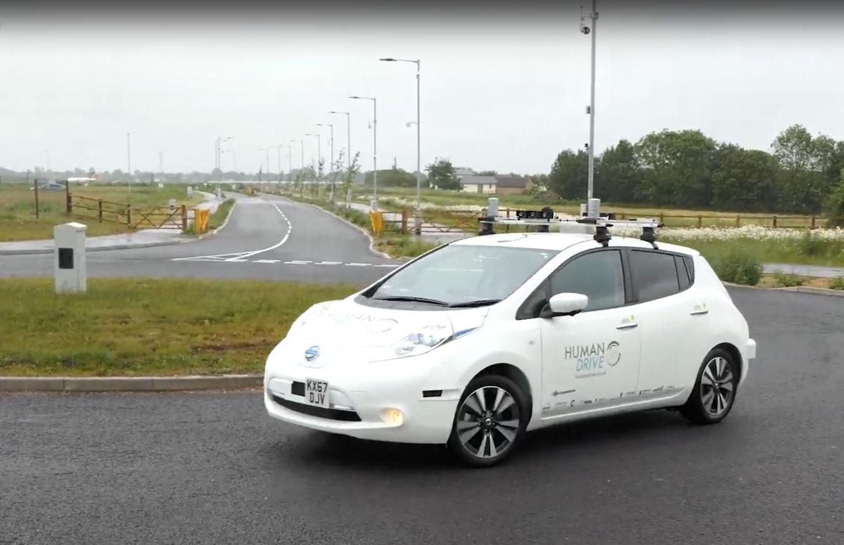 Nissan LEAF realizza il viaggio a guida autonoma più lungo del Regno Unito