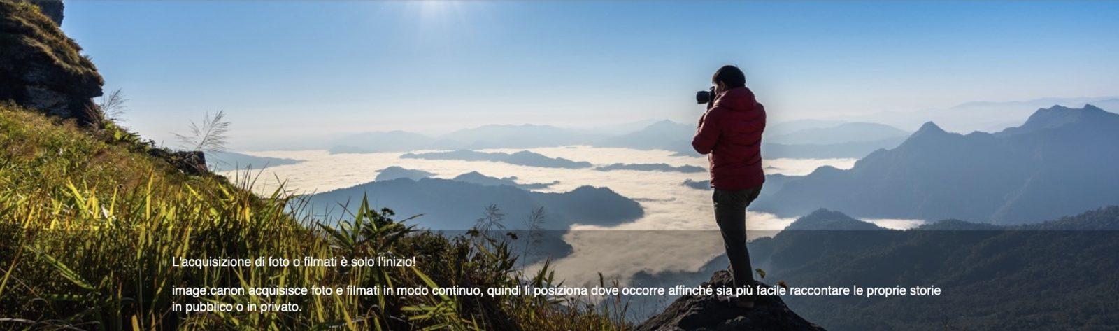 Dal Wi-Fi della fotocamera al cloud: con image.canon il servizio di archiviazione gratuito di Canon