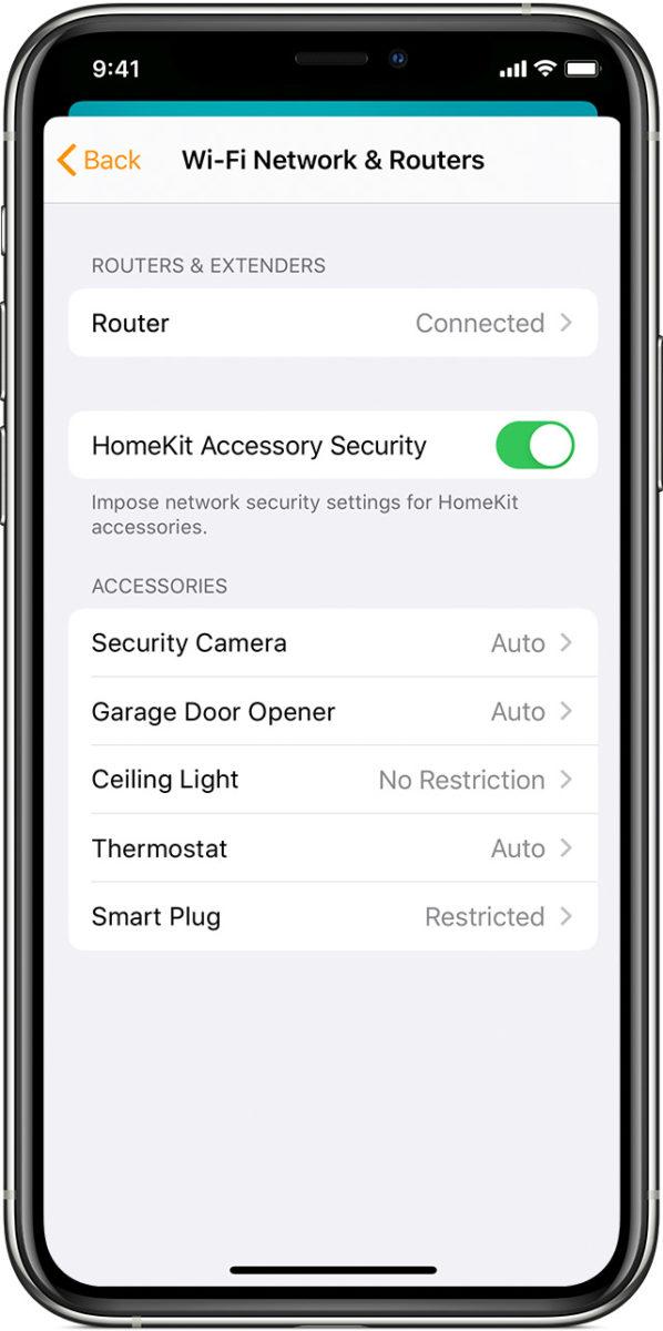 Dopo aver configurato un router compatibile HomeKit, bisogna reinstallare tutti i dispositivi collegati all'app Casa