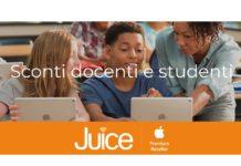 Juice fa scuola, sconto del 6% su Mac e del 5% su iPad per studenti e docenti