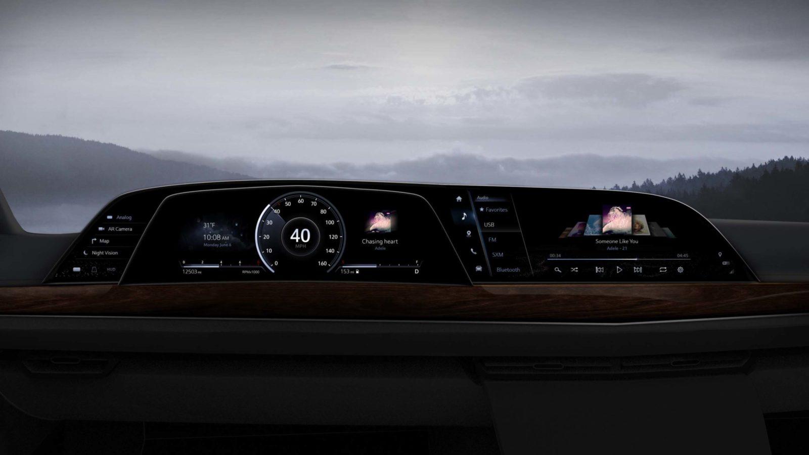 Cadillac Escalade 2021 con primo cruscotto LG P-OLED