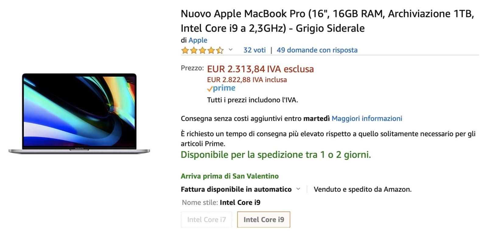 Storico ribasso, il MacBook Pro 16″ 1 TB costa meno del 512 GB: 2784€