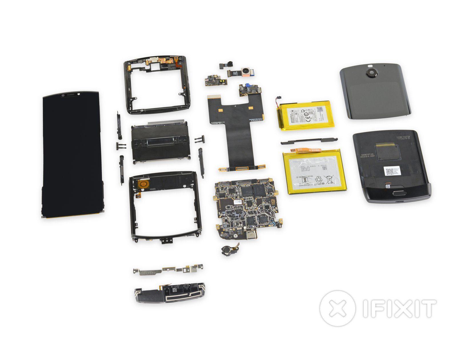 iFixit ha smontato Motorola Razr: ripararlo è quasi impossibile