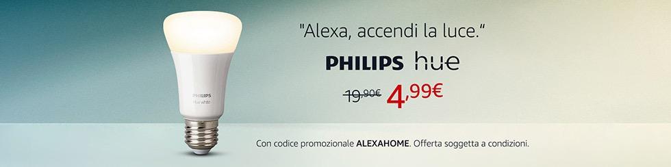 Lampada Philips Hue bianca a 4,99 euro su Amazon, funziona senza bridge