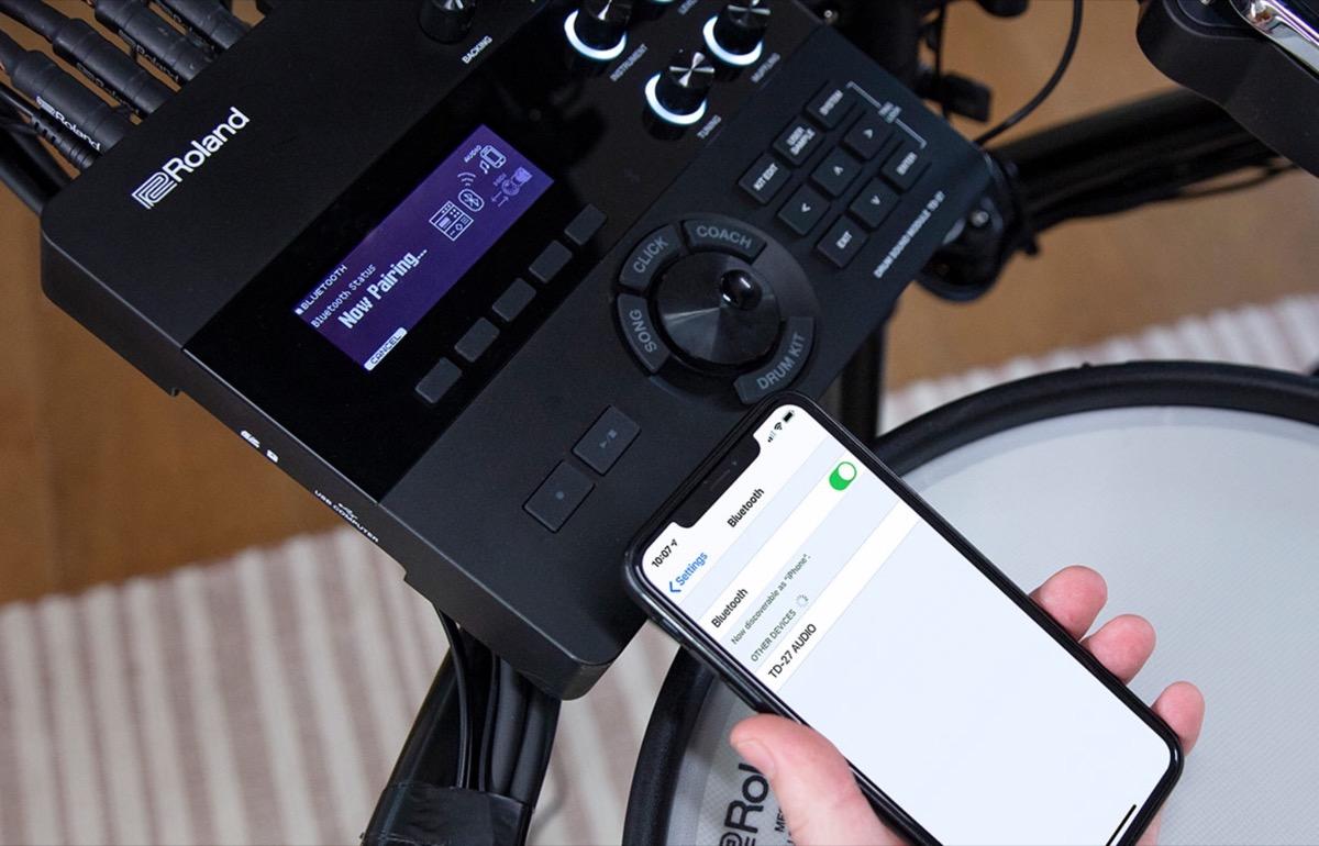 Roland TD-27KV, al NAMM 2020 la batteria elettronica che si connette ad iPhone e Mac