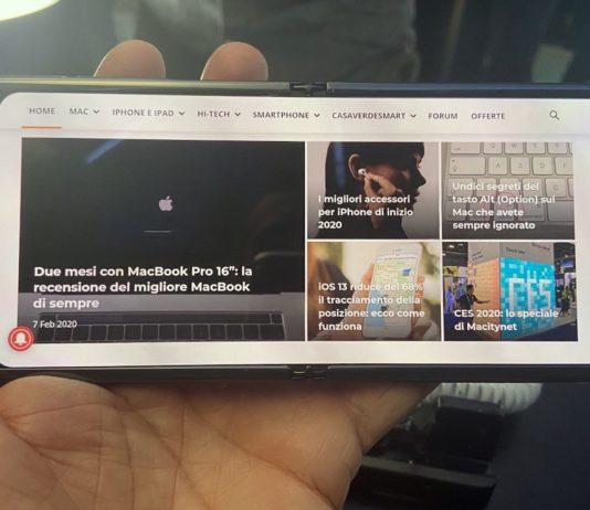 Il nuovo Samsung Z Flip visto da vicino