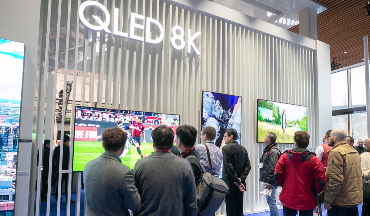 Samsung a ISE 2020 con i display QLED 8K Smart, The Wall e Flip 2