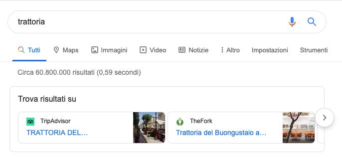 Google mostra i rivali nelle ricerche in Europa, anche in Italia