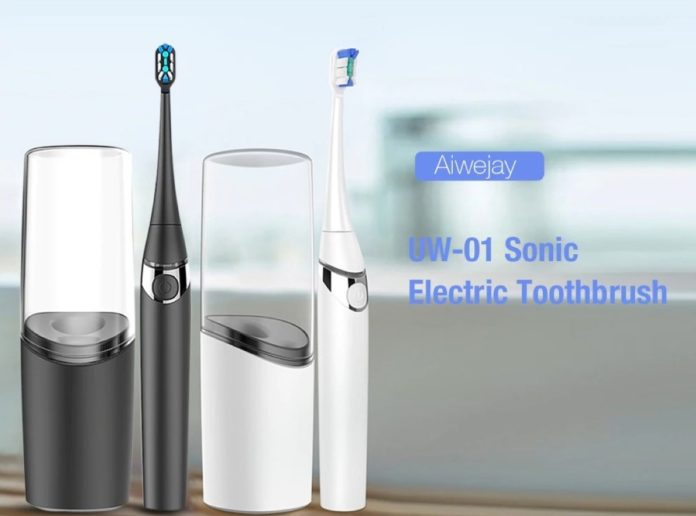 Aiwejay UW, lo spazzolino elettrico sonico smart che si sterilizza automaticamente quando in carica