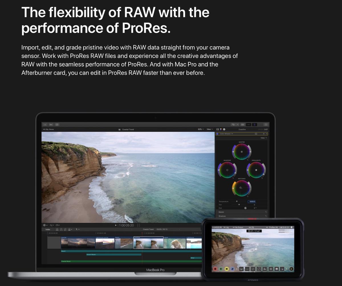 Apple rilascia ProRes Raw per Windows