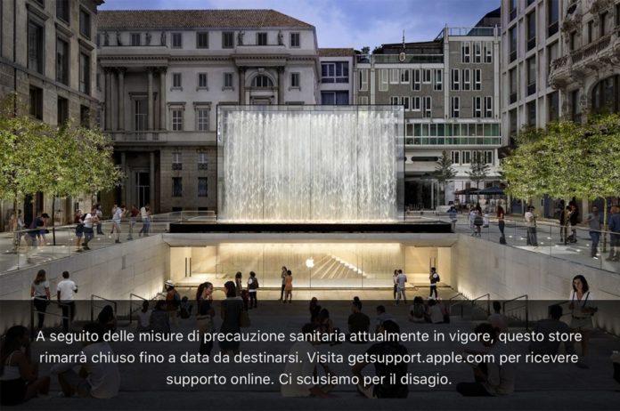 Apple chiude tutti gli Apple Store in Italia per coronavirus