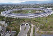 Video con il drone nell'Apple Park mostra il campus di Apple deserto per via del coronavirus
