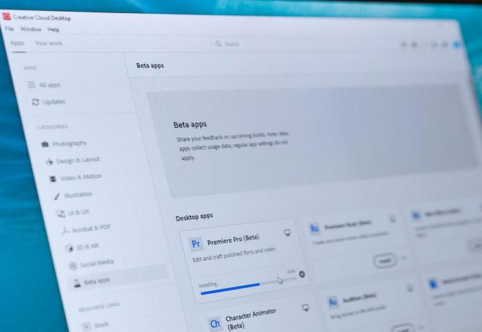 Adobe ha predisposto Public Beta per le applicazioni della Creative Cloud
