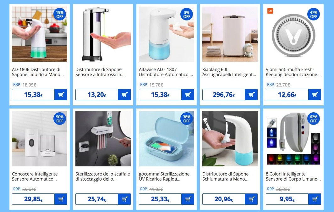 Coronavirus, Gearbest lancia la pagina dedicata, con dispositivi e prodotti utili