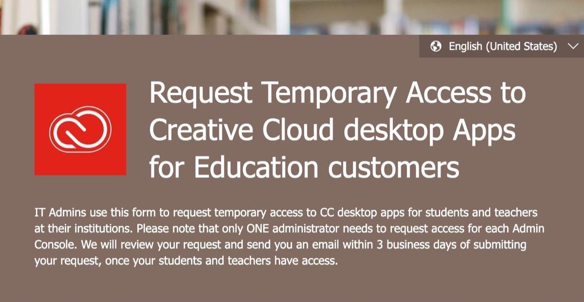 Creative Cloud, Adobe concede agli studenti l'accesso temporaneo a distanza