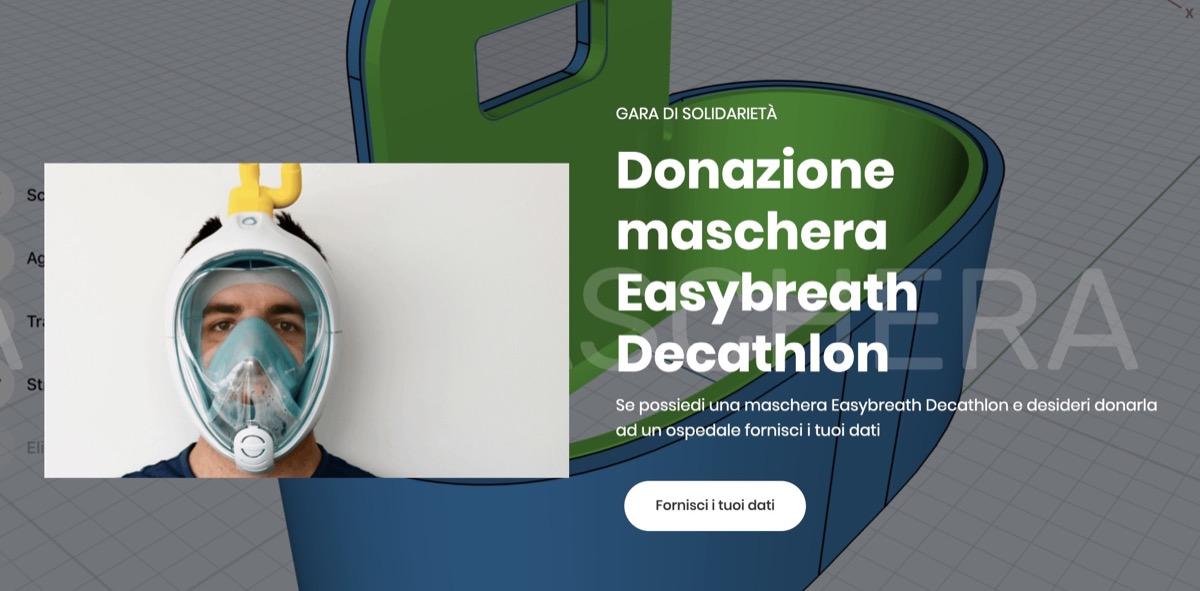 maschera decathlon respiratore