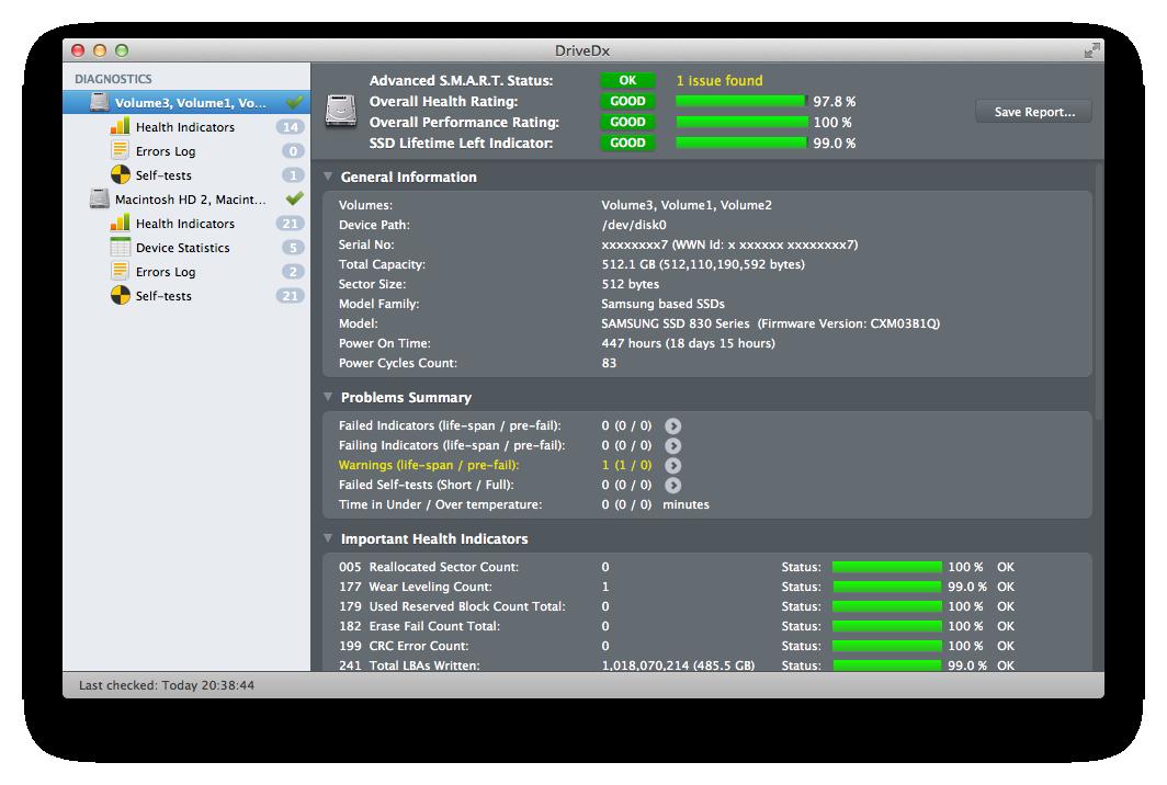 Come verificare la salute di dischi e unità SSD su Mac
