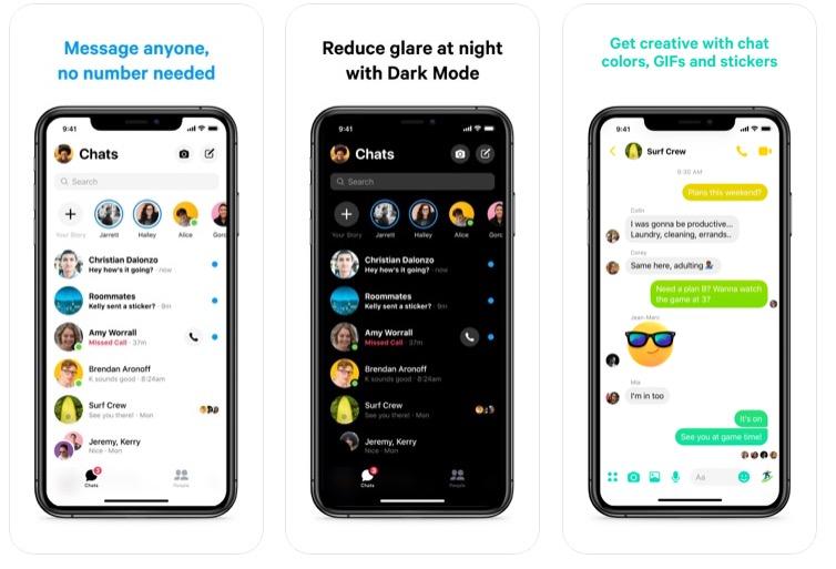 Disponibile il nuovo Messenger per iOS, riprogettato, 2 più veloce e più snella del 75%