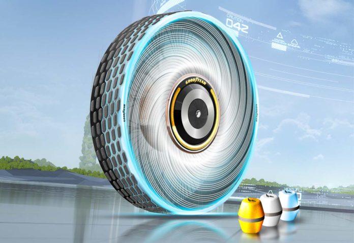 Goodyear studia reCharge: pneumatico con mescola personalizzabile e ricaricabile