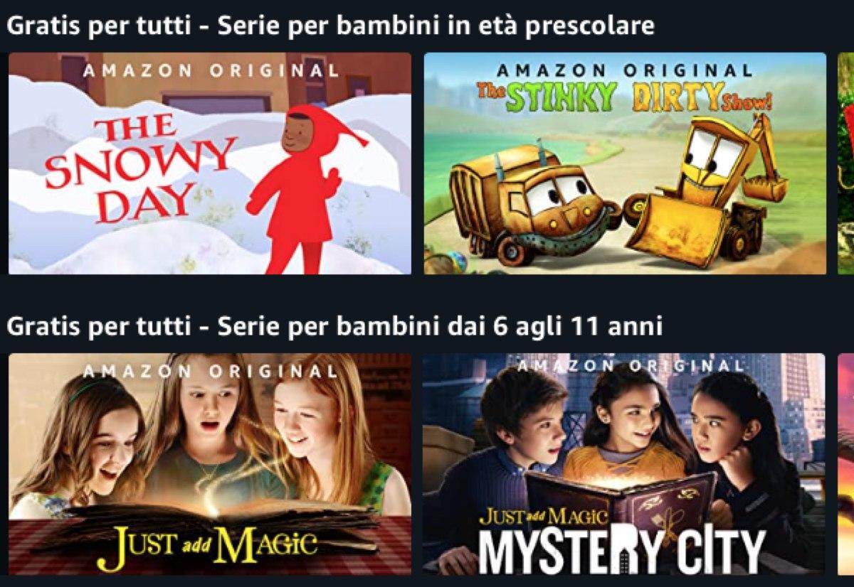 Film e serie tv per bambini e gratis per tutti gli utenti Amazon