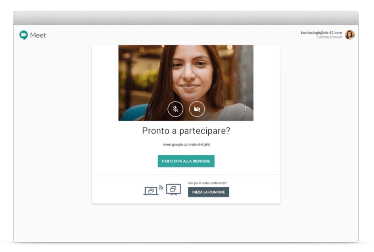 google hangouts meet gratis per coronavirus