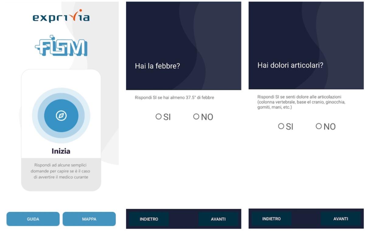 IoRestoaCasa, l'app della FISM per l'autovalutazione dei sintomi da coronavirus