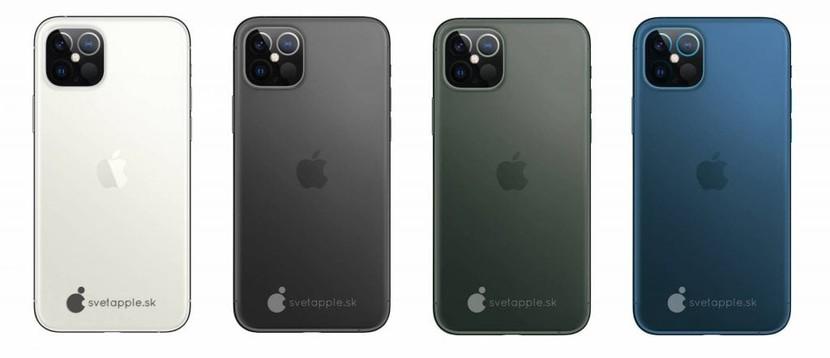 L'iPhon 12 con LIDAR appare in un primo render, anche Navy Blue