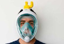 La maschera da sub di Decathlon trasformata in respiratore