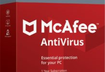 McAfee Antivirus, abbonamento annuale a 14,20 euro con licenza Windows 10 in regalo