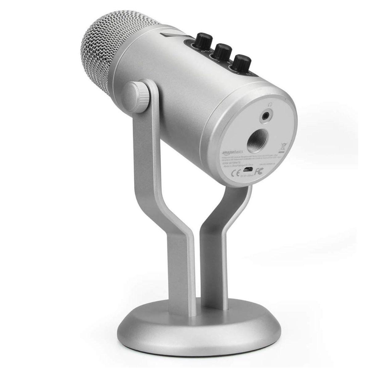 Microfono a condesatore in stile Yeti per Mac e PC: super offerta di Amazon Basics a meno di 35 €