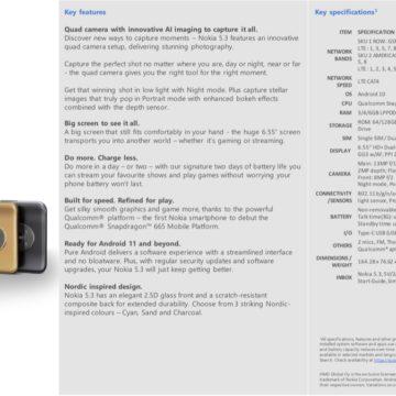 Nokia 5.3, Nokia 1.3 e Nokia 5310
