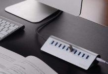 Hub in alluminio stile Apple con 10 porte USB-A 3.0 in sconto a 34,29 euro spedito