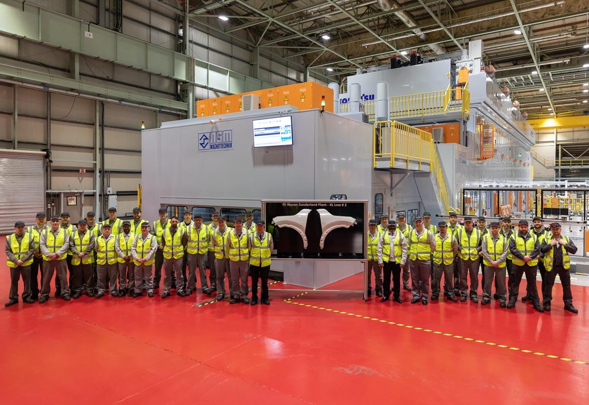 Nissan, nuove linee di stampaggio nello stabilimento di Sunderland per il lancio del nuovo Qashqai