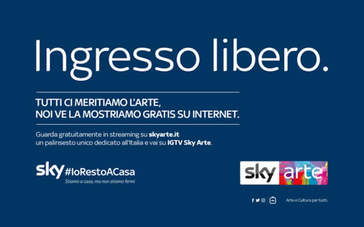 L'arte gratis online con Sky Arte, da oggi in streaming 24 ore su 24