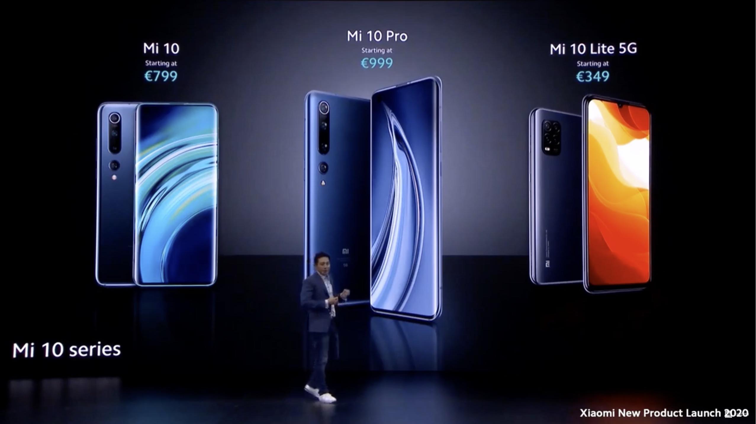 Xiaomi Mi 10 e 10 Pro ufficiali, dal 7 aprile in Italia da 799 euro