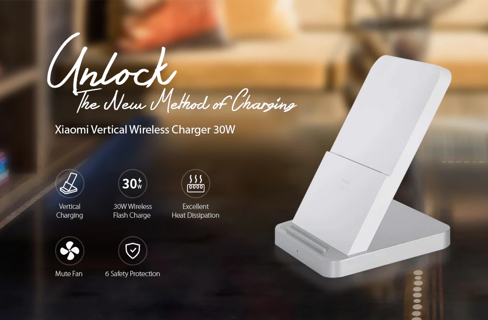 In offerta il caricatore wireless super veloce Xiaomi da 30W, a 42,57 euro
