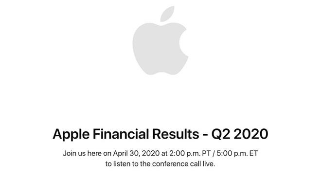 Apple presenterà il 30 aprile i risultati finanziari del secondo trimestre fiscale