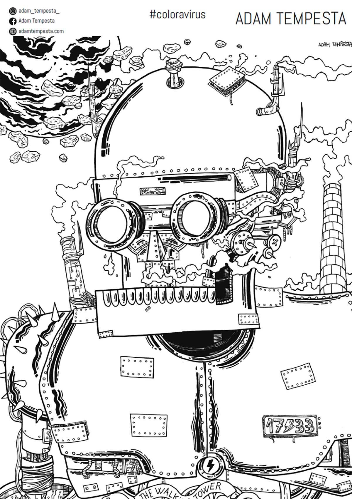 #COLORAVIRUS: uno sketck-book con 100 disegni da colorare a casa